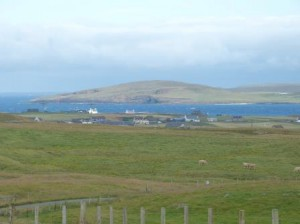 Typische Shetlandlandschaft