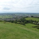 Grafschaft Somerset vom Glastonbury Tor
