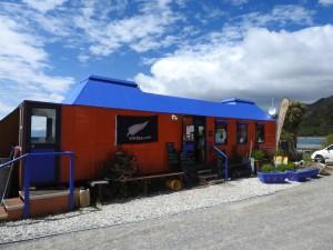 Jackson Bay-Fliegendes Klassenzimmer als Restaurant