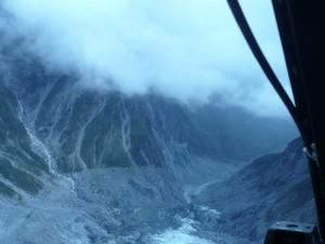 Rückflug über Franz-Josef-Gletscher