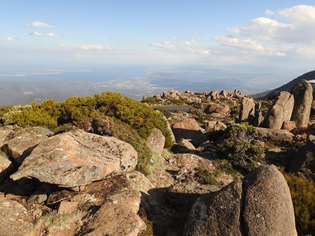 Mt Wellington-Blick auf Hobart